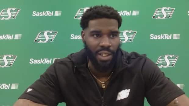 Defensive end A.C. Leonard has been cleared to practise with the Roughriders again, after receiving suspensions for not providing a urine sample to doping officials following the Labour Day Classic. (CBC News - image credit)