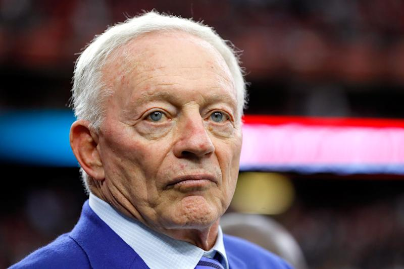 Jerry Jones has a rule for the Cowboys: Stand during the anthem or there will be consequences. (Getty Images)