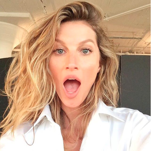 The Brazilian bombshell stunned with natural hair and face. Photo: Instagram/@gisele