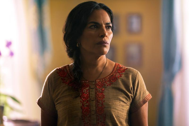 """Sarita Choudhury plays a mom who's sure her daughter's new boyfriend is connected to her own dark past in the thriller """"Evil Eye."""""""