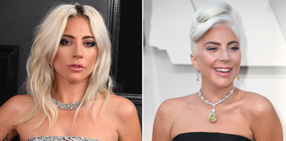 <p>At the 2019 Oscars, Lady Gaga showed off a brand new hair color. She amplified her bleached strands with a white-gray tint that's 100% unique – AKA: totally Gaga. </p>