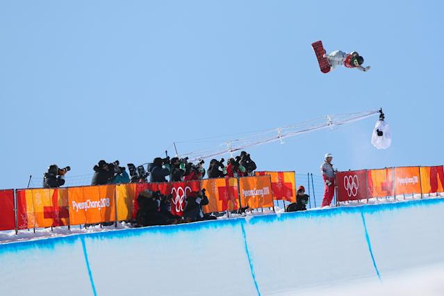 <p>Chloe Kim of USA takes 1st place during the Snowboarding Women's Halfpipe Finals at Pheonix Snow Park on February 13, 2018 in Pyeongchang-gun, South Korea. (Photo by Laurent Salino/Agence Zoom/Getty Images) </p>