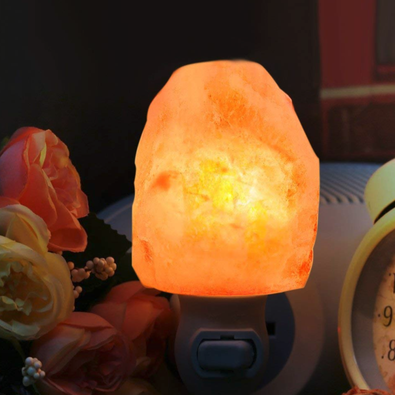 Himalaya Salt Crystal Nightlight, Wall Plug-In (Photo Walmart)