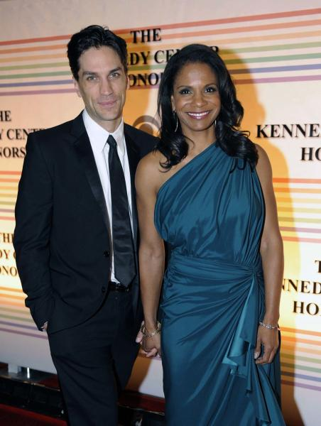 "FILE - In this Dec. 4, 2011 file photo, actress Audra McDonald, right, and actor Will Swenson arrive at the Kennedy Center for the Performing Arts for the Kennedy Center Honor gala performance in Washington. Audra McDonald and Will Swenson were married Oct. 6, 2012 at their home in Croton-on-Hudson, New York. They met while appearing together in ""110 in the Shade"" on Broadway in 2007, she starring as Lizzie and Swenson understudying the leading role of Bill Starbuck. (AP Photo/Kevin Wolf, file)"