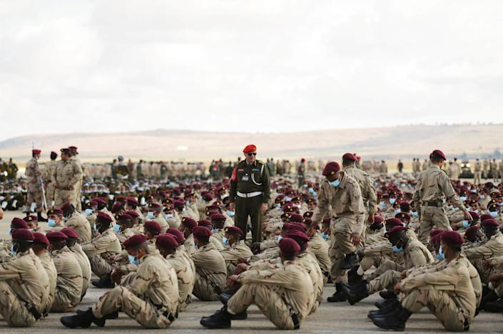 Soldiers loyal to Libyan military commander Khalifa Haftar take part in Independence Day celebrations in Benghazi last month. REUTERS/Esam Omran Al-FetoriREUTERS