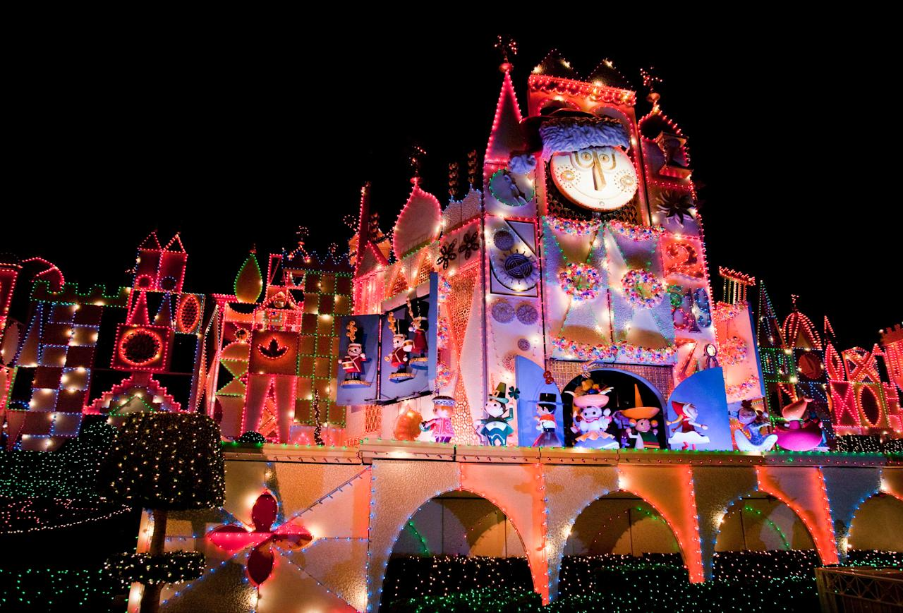 "<p>Another of <a rel=""nofollow"" href=""http://www.sunset.com/travel/california/disneyland"">Disneyland</a>'s main attractions gets a festive spin each winter to celebrate the diverse <a rel=""nofollow"" href=""http://www.sunset.com/travel/holiday-traditions"">holiday traditions</a> of its multicultural cast. The beloved ride's exterior is strung with 300,000 LED lights, and as guests embark on the musical cruise, they'll hear holiday favorites from around the world. Some of the dolls even don festive garb, and their spirited chorus will leave you humming holiday jingles for days to come.</p>"