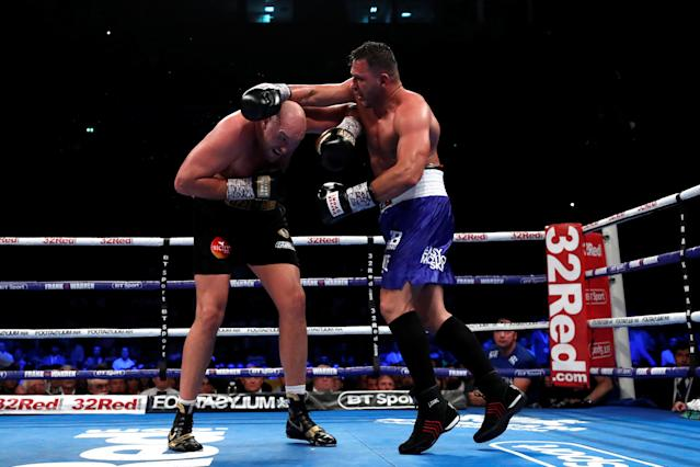 Boxing - Tyson Fury v Sefer Seferi - Manchester Arena, Manchester, Britain - June 9, 2018 Tyson Fury in action against Sefer Seferi Action Images via Reuters/Andrew Couldridge