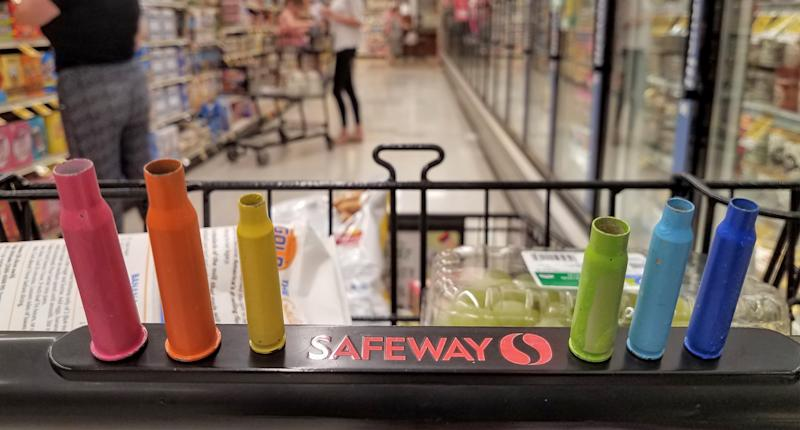 Bullet casings at the Safeway in Tucson, Arizona, where six people were killed and 13 others were wounded in an assassination attempt on U.S. Representative Gabby Giffords in 2011. (Photo: Maureen Cain)