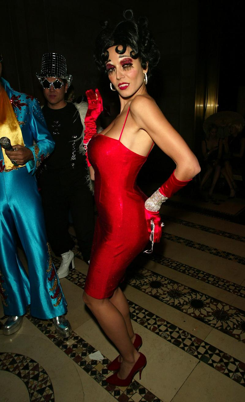 Heidi Klum as an evil Betty Boop at Dolce & Gabbana's Halloween Party at Cipriani 42nd Street in New York City on October 31, 2002. Photo courtesy of Getty Images.