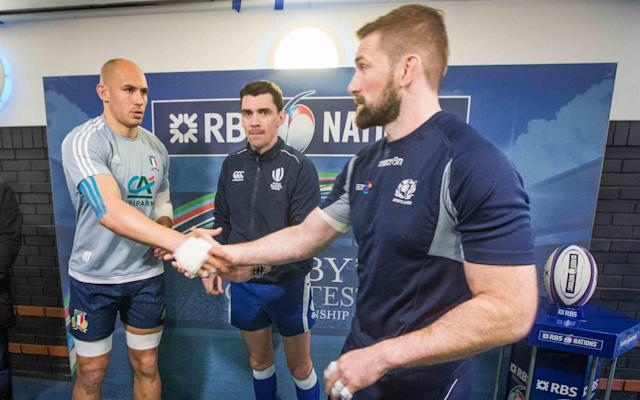 <span>The captains shake hands at the toss</span> <span>Credit: Treacy/INPHO/REX/Shutterstock </span>