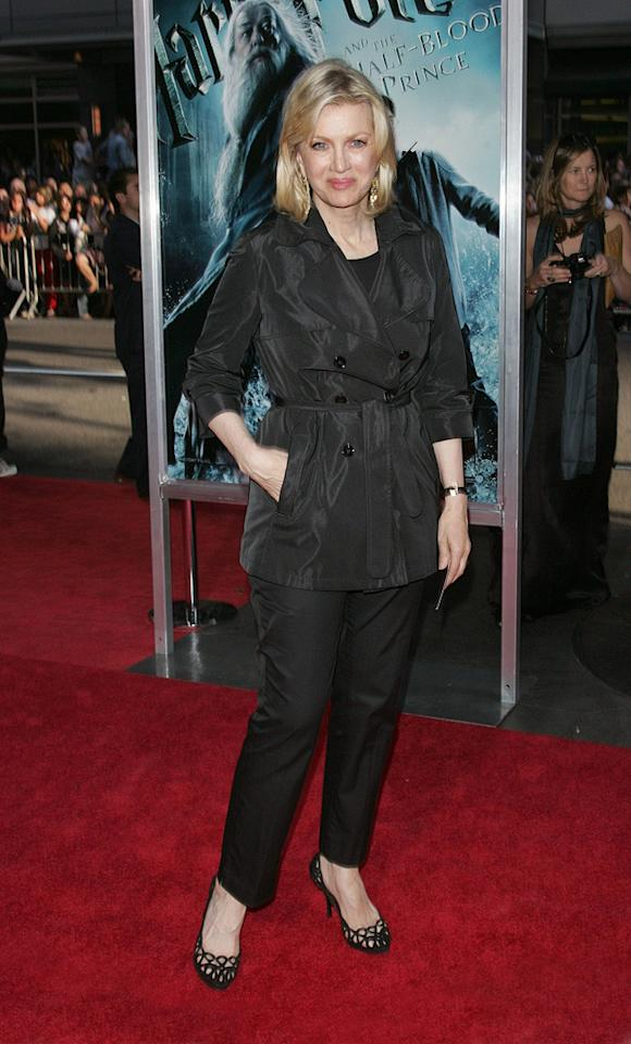 """<a href=""""http://movies.yahoo.com/movie/contributor/1800384877"""">Diane Sawyer</a> at the New York premiere of <a href=""""http://movies.yahoo.com/movie/1809791044/info"""">Harry Potter and the Half-Blood Prince</a> - 07/09/2009"""
