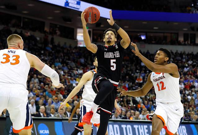 Virginia became the first No. 1 seed to lose to a 16 when it was upset by UMBC last year. A year later, it trailed Gardner-Webb by 14 in the first half. (Getty)