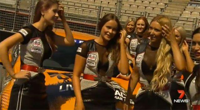 Opponents say grid girls are an anacronism and need to go from motor racing. Source: 7 News