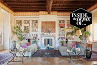 """<p>Most affluent Italians dream of escaping the city for weekends spent in Positano, but when Positano is your place of work, a new place of respite is needed. Antonio and Carla Sersale are the owners of <a href=""""https://sirenuse.it/en/"""" rel=""""nofollow noopener"""" target=""""_blank"""" data-ylk=""""slk:Le Sirenuse"""" class=""""link rapid-noclick-resp"""">Le Sirenuse</a>, one of the most iconic and beautiful hotels on the Amalfi Coast, where the stylish and well heeled flock to summer after summer in search of sunshine and la dolce vita. While the couple spend their summers hard at work in Positano, when they need a break they escape to their impeccably designed residence in Rome. </p><p>The Sersales bought the property in 2004 when they renovated it to create the perfect home for entertaining. Their spacious living room has housed many elegant soirées over the years, although Carla Sersale admits their initial house warming party didn't go quite to plan. """"We overestimated the size of the living room and invited 300 people,"""" she tells us. """"Our caterers quickly informed us that the space would house 70 people maximum. Then, by the time the party date arrived, the renovation work was behind schedule, so we had no furniture or electricity. We persuaded the building owner to allow us to use the courtyard instead, so we invited all the neighbours and held the party outside. It ended up being a beautiful evening.""""</p><p>Today, the apartment is filled with richly embroidered Suzanis, decorative textiles from central Asia, where Antonio Sersale's father once lived. After he passed away in 2015, he and Carla inherited his collection, which they have used as artworks around their home. """"They bring such warmth,"""" says Carla. """"Antonio's father has definitely passed his passion onto us.""""</p>"""
