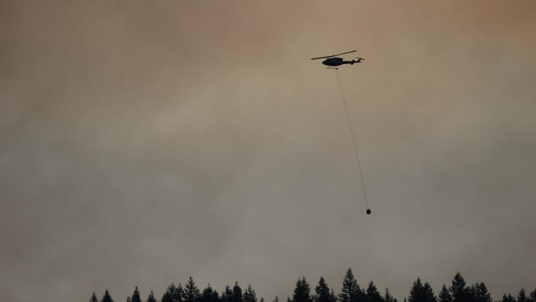 Crews fight forest fire near Horseshoe Bay
