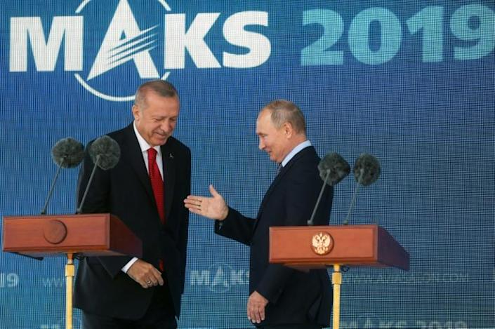 The meeting came ahead of a September 16 summit in Ankara (AFP Photo/Maxim SHIPENKOV)