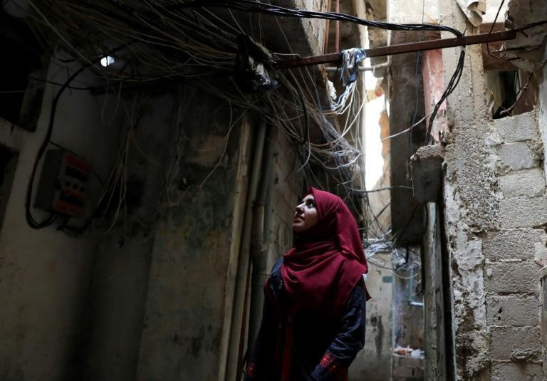 Palestinian student Mira Krayem, in the refugee camp of Shatila in Beirut, where she has been busy protesting and gathering support for the Palestinian cause