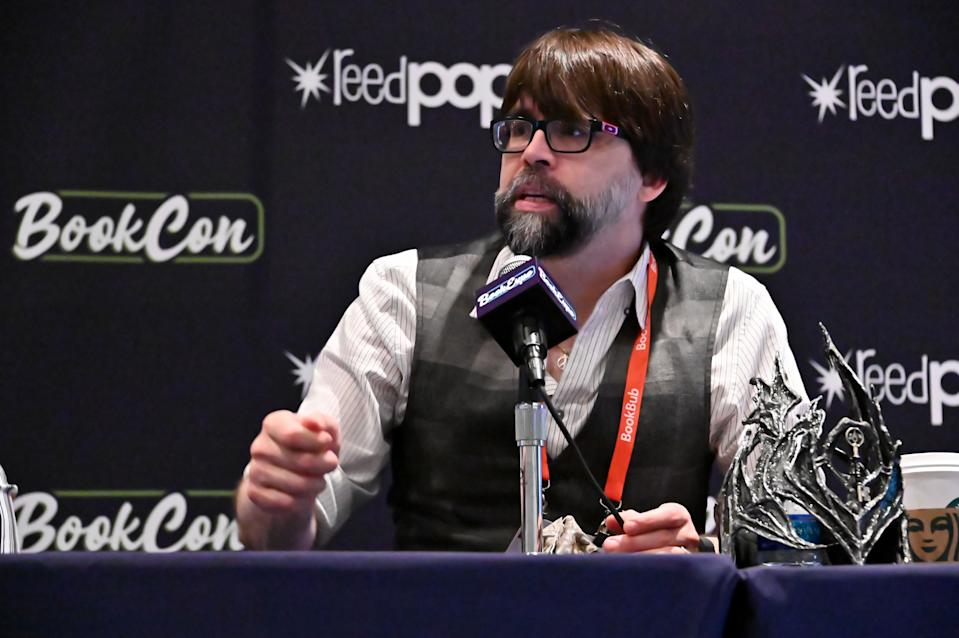 Joe Hill participates in the panel for NOS4A2 at Bookcon on June 01, 2019. (Photo by Astrid Stawiarz/Getty Images for AMC)