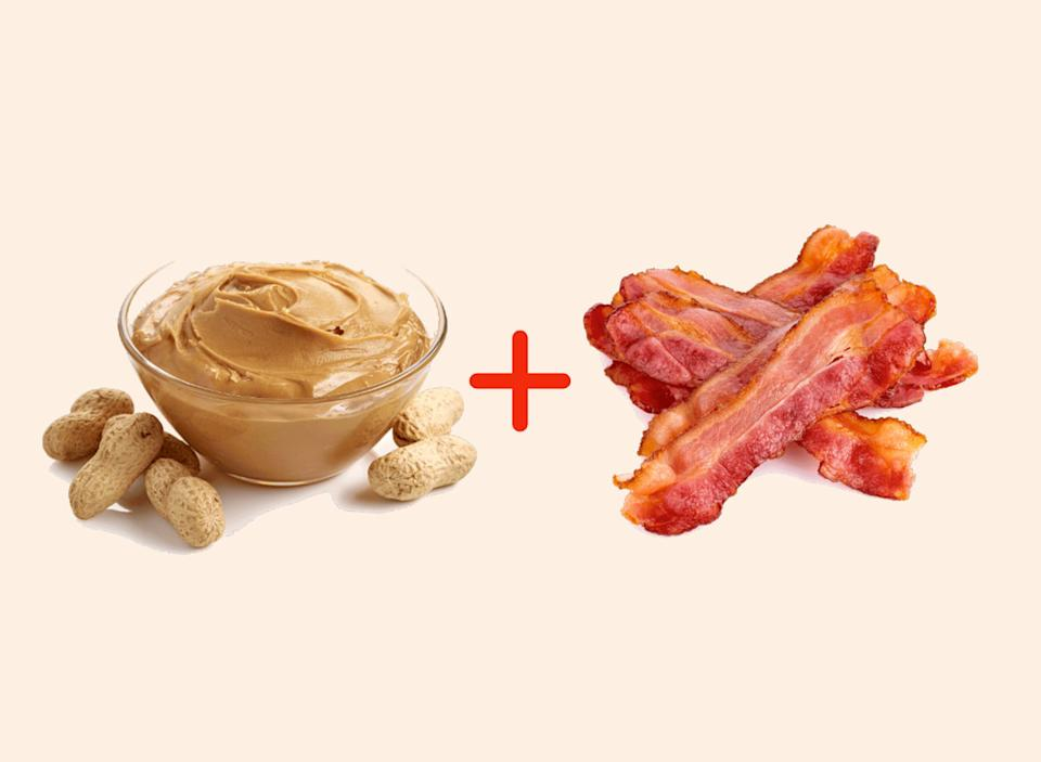 peanut butter with bacon amazing food pairings