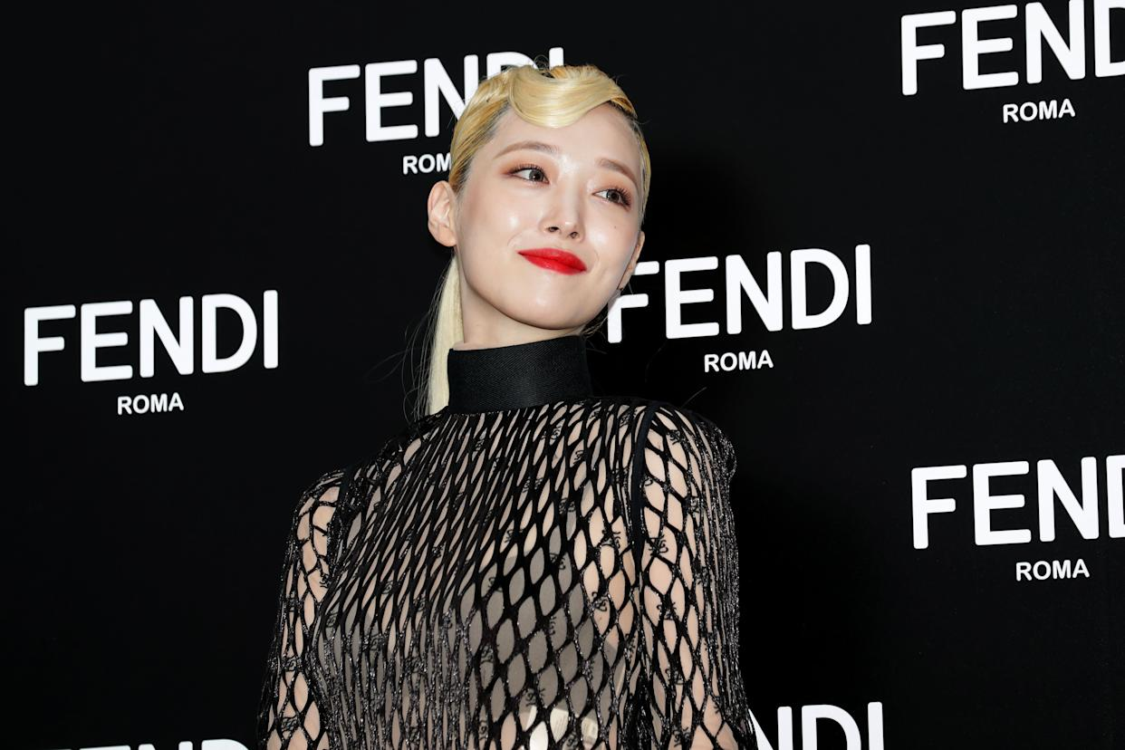 """Earlier this year, Sulli released a solo single, """"Goblin."""" (Photo: Han Myung-Gu via Getty Images)"""