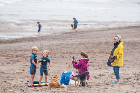 Kids play on Spittal Beach - Credit: STUART NICOL PHOTOGRAPHY/Stuart Nicol