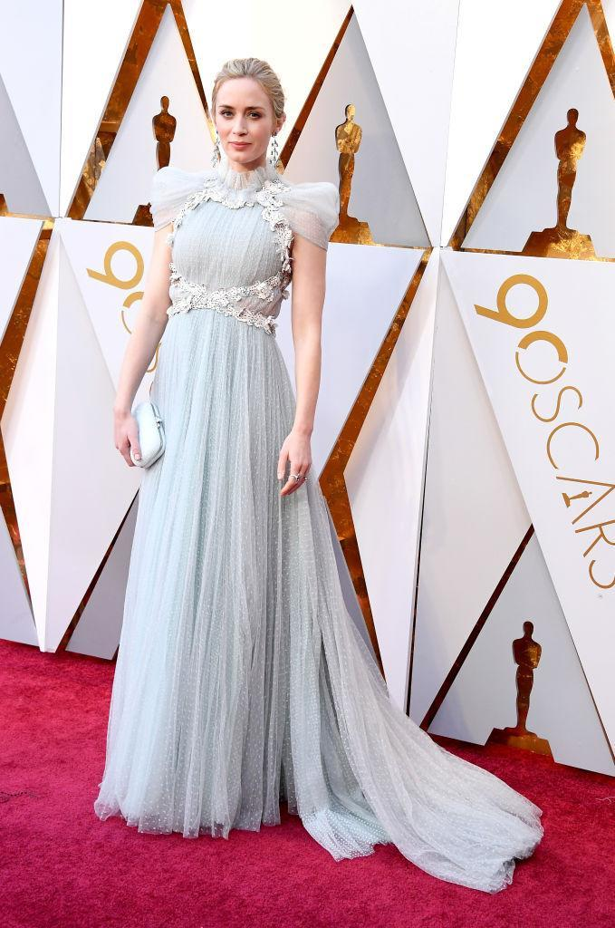<p>Emily Blunt attends the 90th Academy Awards in Hollywood, Calif., March 4, 2018. (Photo: Getty Images) </p>