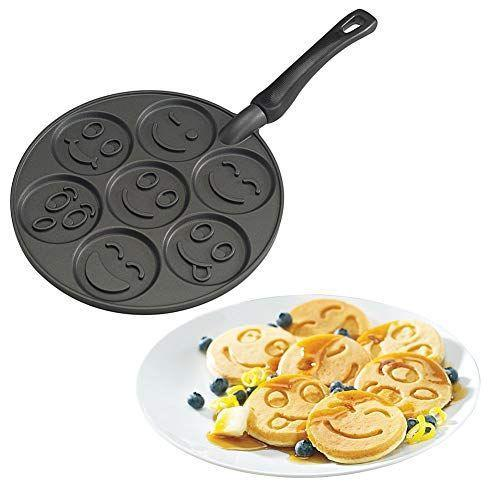 """<p><strong>Nordic Ware</strong></p><p>amazon.com</p><p><strong>$34.42</strong></p><p><a href=""""https://www.amazon.com/dp/B004ATJGF2?tag=syn-yahoo-20&ascsubtag=%5Bartid%7C10050.g.2127%5Bsrc%7Cyahoo-us"""" rel=""""nofollow noopener"""" target=""""_blank"""" data-ylk=""""slk:Shop Now"""" class=""""link rapid-noclick-resp"""">Shop Now</a></p><p>If your recipient likes emojis enough to eat them, this is the pan for them! And who knows? You just might get to reap the edible benefits.</p>"""