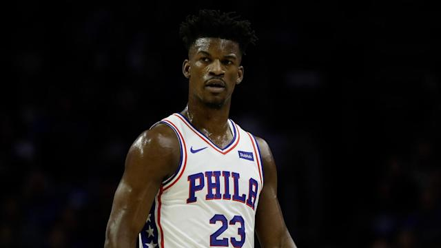 "<a class=""link rapid-noclick-resp"" href=""/nba/players/4912/"" data-ylk=""slk:Jimmy Butler"">Jimmy Butler</a> hasn't played since last Saturday. (AP)"