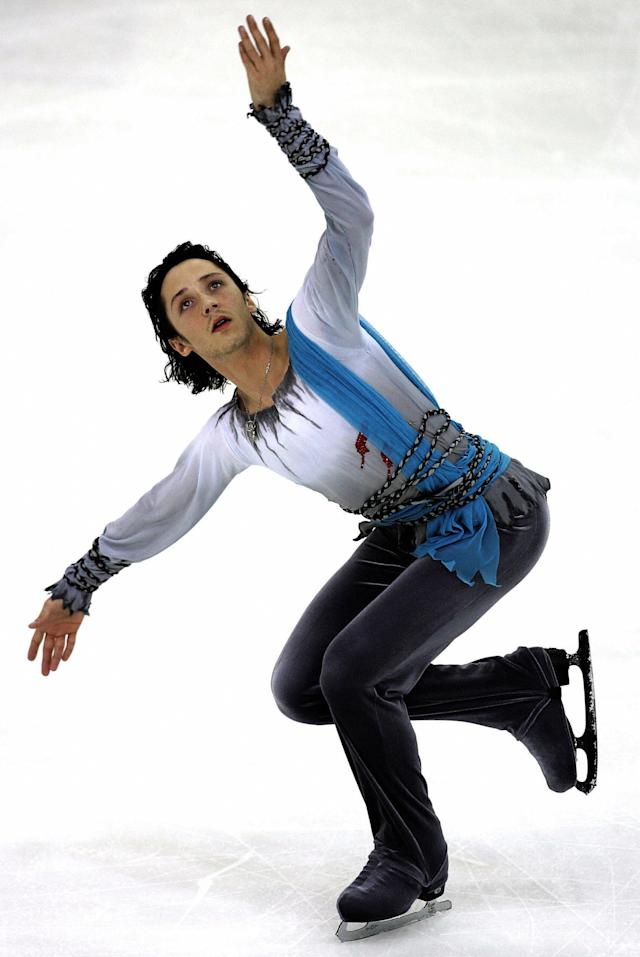 Performinghis men's free program at the Cup of Russia ISU Grand Prix of figure skating in Moscow on Nov. 25, 2006.