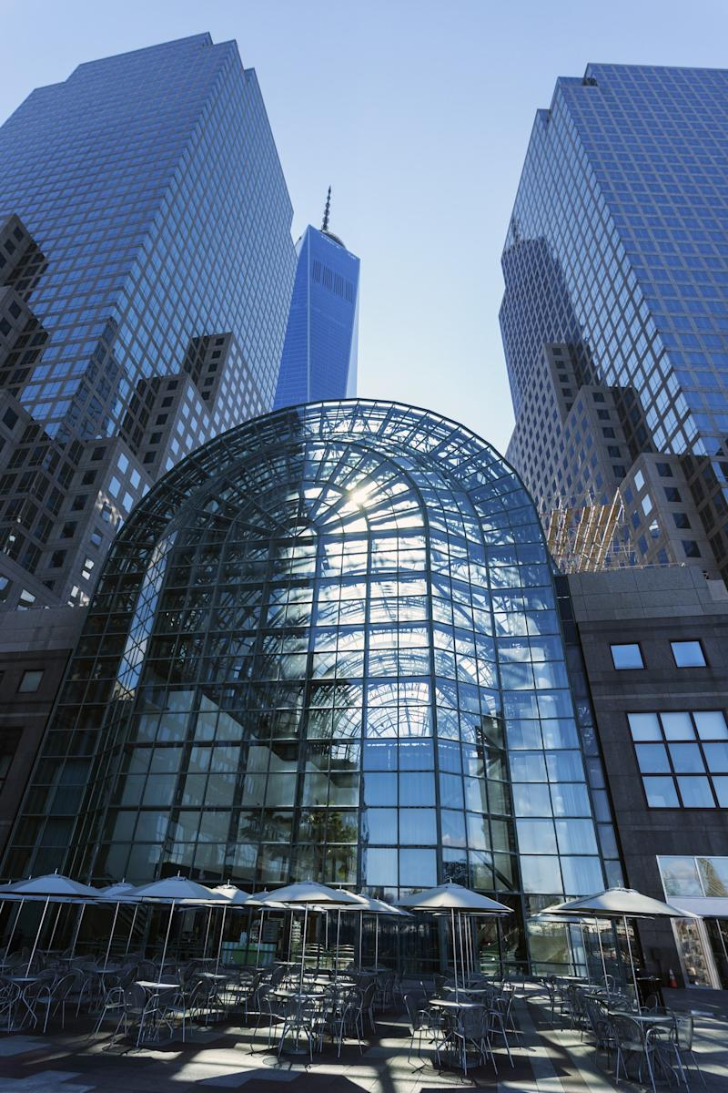 Designed by César Pelli, The World Financial Center (now Brookfield Place), required significant repair after the attacks in New York City on September 11, 2001.