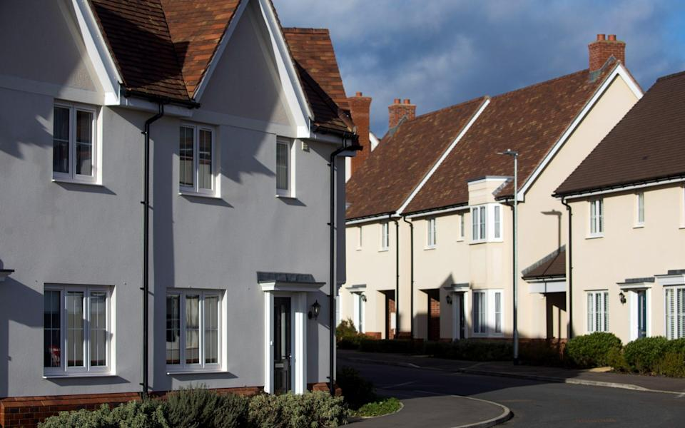 Completed homes on a Crest Nicholson Holdings Plc new housing development in Tiptree - Chris Ratcliffe/Bloomberg