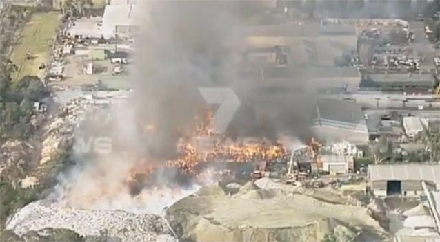 The fire is currently out of control. Photo: 7 News