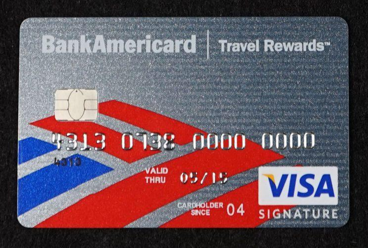 A Bank of America credit card