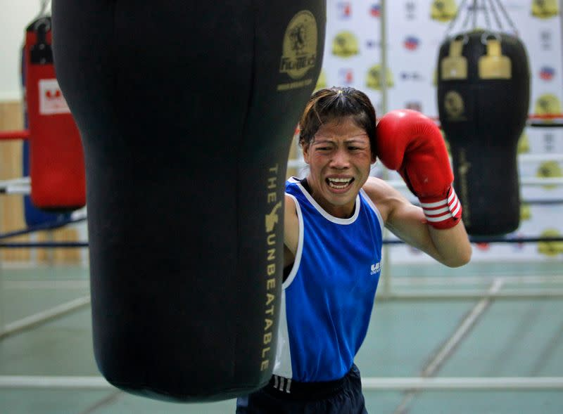 Boxing: India's Kom beats challenger in trial for Olympics qualification