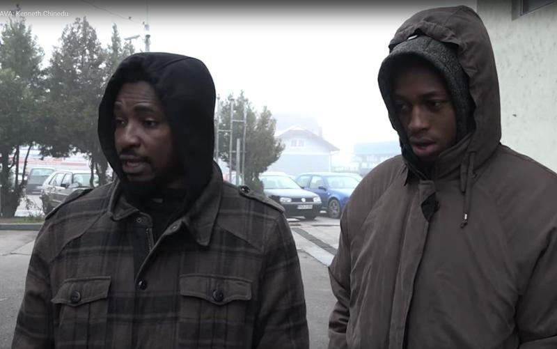 Abia Uchenna Alexandro and Kenneth Chinedu say they were arrested in Croatia and dumped across the border in Bosnia  - Zurnal