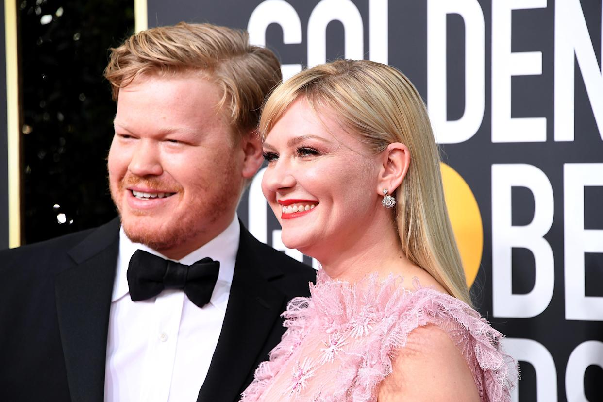 BEVERLY HILLS, CALIFORNIA - JANUARY 05: (L-R) Jesse Plemons and Kirsten Dunst attend the 77th Annual Golden Globe Awards at The Beverly Hilton Hotel on January 05, 2020 in Beverly Hills, California. (Photo by Steve Granitz/WireImage)