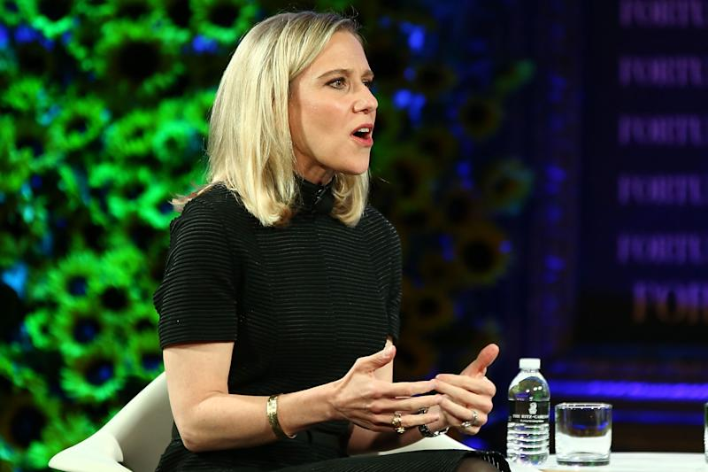 Marne Levine, Instagram's chief operating officer, could be a good candidate for Uber. (Joe Scarnici/Getty Images)