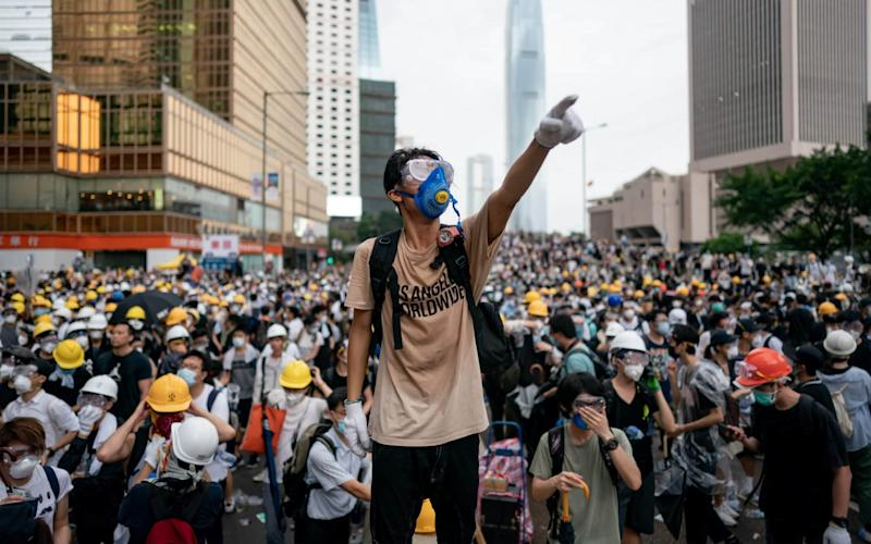Demonstrators have taken to the streets in Hong Kong to protest a proposed extradition bill. - Getty Images AsiaPac