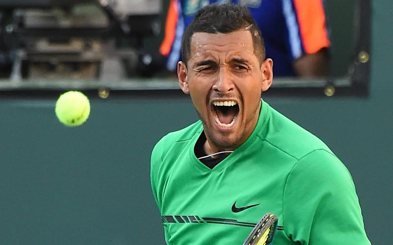 Nick Kyrgios withdrew from the Indian Wells Masters through illness  - Copyright (c) 2017 Rex Features. No use without permission.