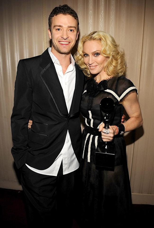 """JT has """"Blonde Ambition"""" just like Madonna. Kevin Mazur/<a href=""""http://www.wireimage.com"""" target=""""new"""">WireImage.com</a> - March 10, 2008"""