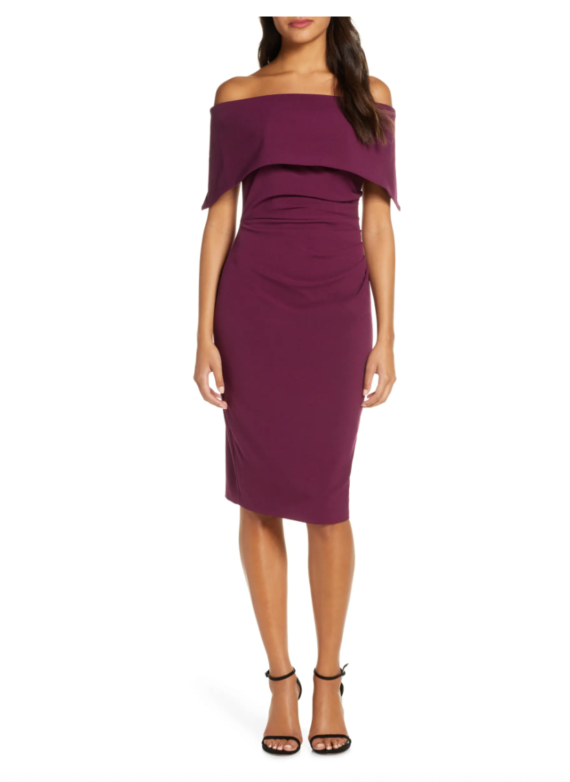 Vince Camuto Popover Cocktail Dress. Image via Nordstrom.
