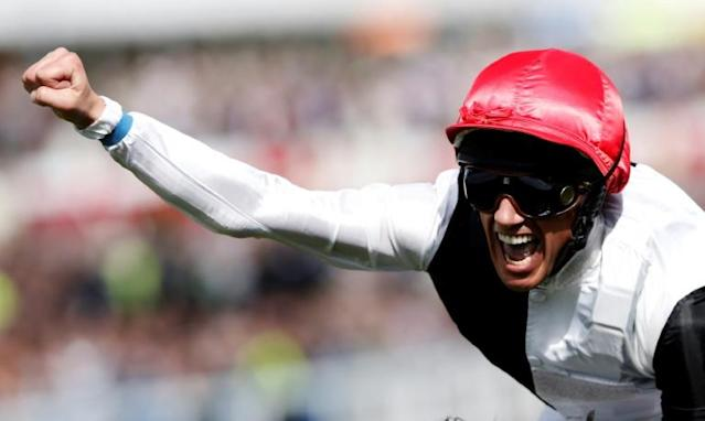 My biggest thrill on a horse is how Dettori describes winning the 2015 Epsom Derby on Golden Horn (AFP Photo/ADRIAN DENNIS)