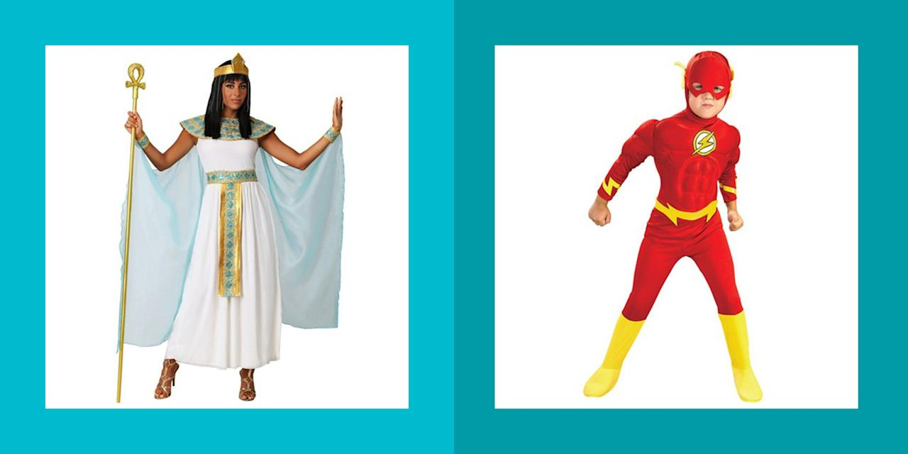 "<p>Picking out a <a href=""https://www.womansday.com/life/g1898/family-halloween-costumes/"" target=""_blank"">Halloween costume</a> can be an overwhelming experience, especially when you consider just how expensive it can be. Not only are there hundreds of options to choose from, but you could easily end up with a hefty bill if you're buying <a href=""https://www.womansday.com/life/g1898/family-halloween-costumes/"" target=""_blank"">Halloween costumes for the whole family</a>. </p><p>So rather than spending too much money on a costume and accessories that you'll only wear for a couple of hours, why not purchase a cheap Halloween costume that will look just as good, — maybe even better! You'll be left with enough money on your budget to splurge on <a href=""https://www.womansday.com/home/decorating/g1279/easy-halloween-decorations/"" target=""_blank"">spooky decorations</a> and <a href=""https://www.womansday.com/food-recipes/food-drinks/g2500/halloween-snacks/"" target=""_blank"">Halloween snacks</a>, or even to put towards the incoming Holiday budget. </p><p>Before you rush to the store to buy your Halloween attire, check out what materials you already have that could help create your costume. For example, if you already own strappy sandals, you'll only need to buy a dress to complete your Roman Empress costume. If you already own a blouse or black pants, your half-way there to completing the perfect Pirate outfit!</p><p>So if you're wanting to save a little cash this Halloween, scroll through for a couple of cheap Halloween costume ideas for the whole family for looks that will seem way more expensive than they actually are. </p>"