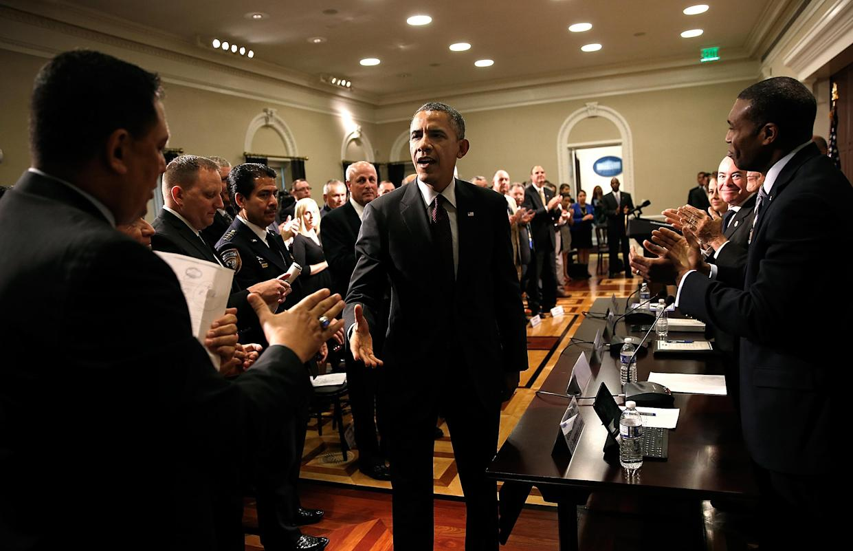 President Barack Obama greets law enforcement leaders from across the country in 2014. Obama discussed immigration reform during the meeting. (Photo: Win McNamee/Getty Images)