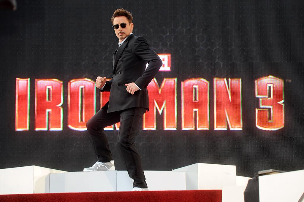 LONDON, ENGLAND - APRIL 18:  Robert Downey Jr attends a special screening of 'Iron Man 3' at The Odeon Leicester Square on April 18, 2013 in London, England.  (Photo by Dave J Hogan/Getty Images)