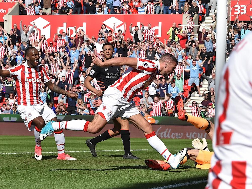 Walters gave Stoke the lead from close-range (Liverpool FC via Getty )