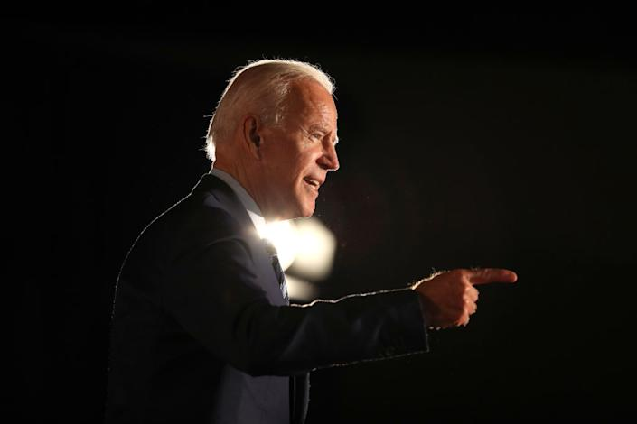 Former U.S. Vice President Joe Biden speaks during the AARP and The Des Moines Register Iowa Presidential Candidate Forum at Drake University on July 15, 2019 in Des Moines, Iowa.   Justin Sullivan—Getty Images