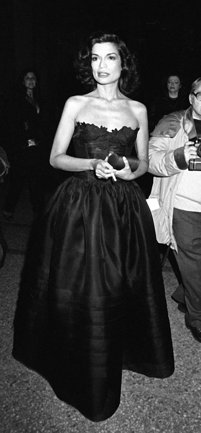 A dress worn by Bianca Jagger in 1981 inspired Kaia's Met look.
