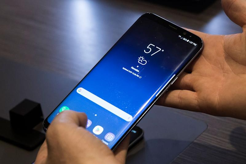 Coming soon: the follow-up to the Samsung Galaxy S8 (pictured) is coming in February: Drew Angerer/Getty