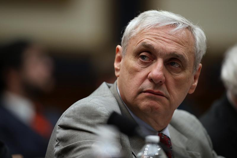 Alex Kozinski, then a judge for the 9th Circuit U.S. Court of Appeals, looks on during a House Judiciary Committee hearing on March 16, 2017. (Justin Sullivan via Getty Images)